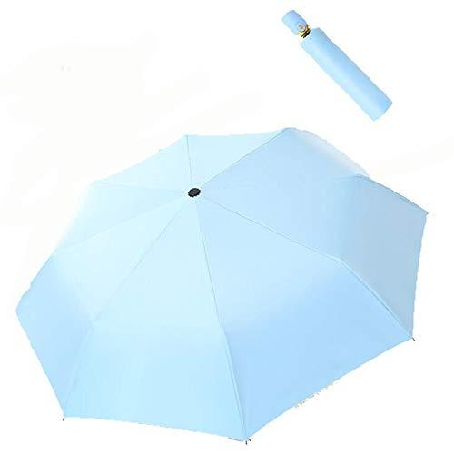 Yi-xir Experiencia Confortable Aleación de Aluminio Ultraligero de los Hombres y Mujeres reflexivo de la Fibra de Doble Fibra y Lluvia Paraguas de sombrilla de Doble Uso Paraguas de Viaje Compacto