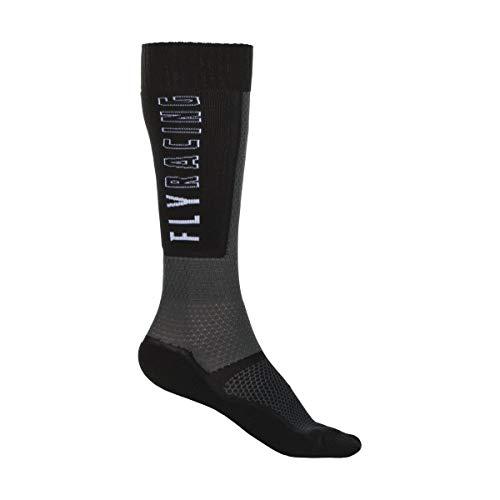 EVS FSN-HIVIZ-L//XL Fusion Socks Lg//XL Black//Hi Viz