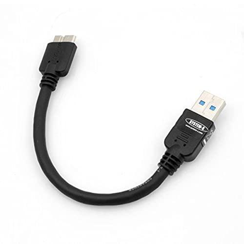 System-S Kurzes Micro USB 3.0 Kabel (USB 3.0 Micro-B) 10 cm für Samsung Galaxy Note 3