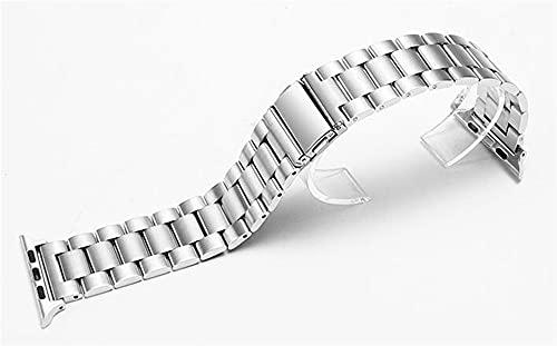 ZXF Correa Reloj, Banda 38mm 40mm 42mm 44mm Black Gold Steel Brazalet Brazalet Strap Strap Pulsera (Band Color : Silver, Band Width : 40mm)