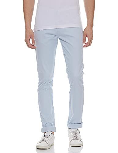 Allen Solly Men's Slim Fit Casual Trousers (ASTFWULFF89100_Blue_36W x 34L)