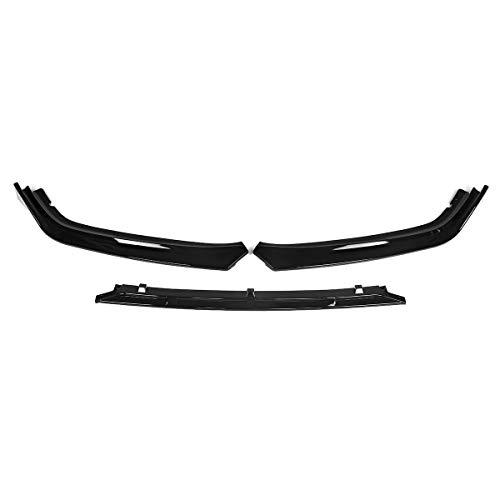 EBXH Difusor de Spoiler, para Honda para Accord 2018 2018 Protección Caver Trim 3PCS Glossy Black Car Frontal Parachoques Barbilla Splitterr Labio
