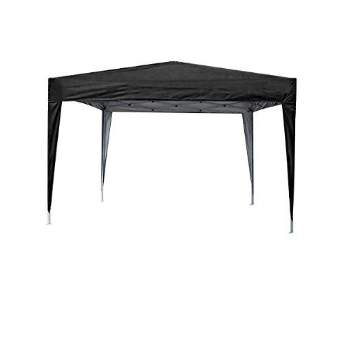 MCC - 3x3m Black Pop-up Gazebo Waterproof Outdoor Garden Marquee Canopy (NS) (Black)
