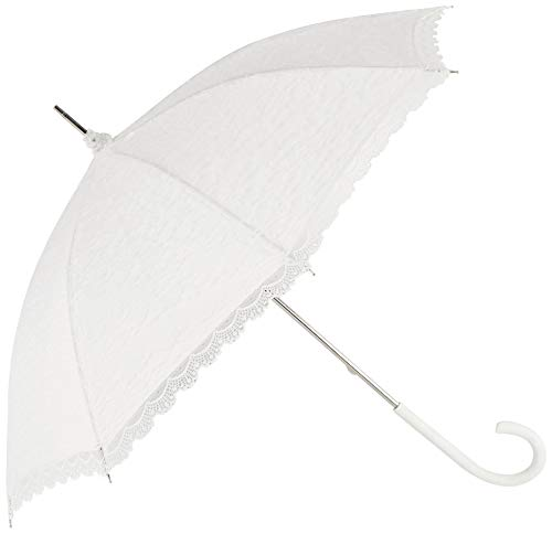Regenschirm Damen Hochzeitsschirm Brautschirm Spitze weiß
