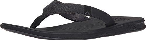 Reef Men's Sandals Slammed Rover   Athletic Flip Flops For Men With Soft Cushion Footbed   Waterproof, Black, 8