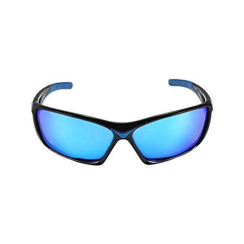 Aroncent Herren Damen Sportbrille Outdoor Radsport Polarisierte UV-Schutz Farbe wählbar blau