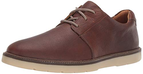 Clarks Men's Grandin Plain Oxford, Tan Leather, 90 M US
