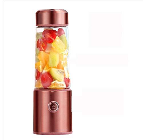 FPXNBONE Vaso exprimidor portátil,Exprimidor USB Multifuncional, licuadora de Frutas portátil-Oro Rosa,Vaso Individuales para Fruta