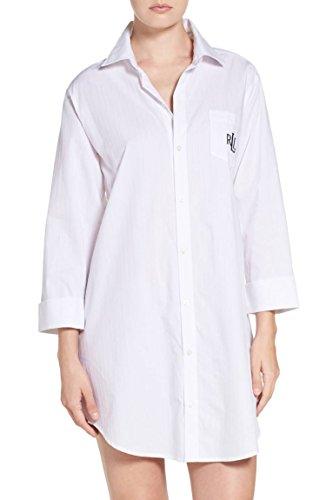 Lauren Ralph Lauren Cotton Jacquard Sleepshirt White SM (US 4-6)