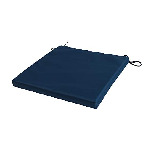 STYLE4HOME Waterproof Patio Chair Cushions with Seat Ties | Indoor and Outdoor Furniture Seating | Water-Resistant Polyester | Kitchen Dining, Lawn & Garden, Coffee Shop Use | Dark Blue