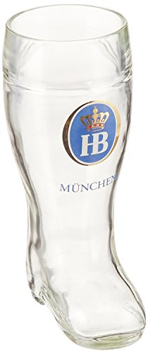 Henry Cornell and Associates 5689 Hofbrauhaus 0.50L Glass Boot, 0.5 L, Clear
