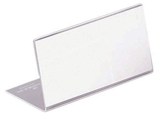 Durable 805519 Tischnamensschild L-Aufsteller (aus Acryl, 52 x 100 mm) 10 Stück, transparent