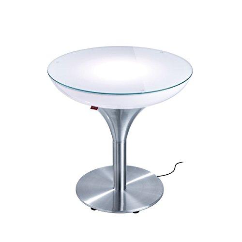 Moree Lampe de Sol Lounge M 55 Outdoor, métallique/Transparent/Blanc, Aluminium/Plastique, 27–07–55