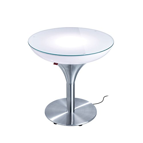 Moree Lampe de Sol Lounge M 55 Outdoor, métallique/Transparent/Blanc, Aluminium/Plastique, 27–07–55