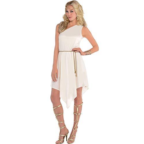amscan 845537-55 Disfraz de diosa blanca, 1 unidad, multicolor