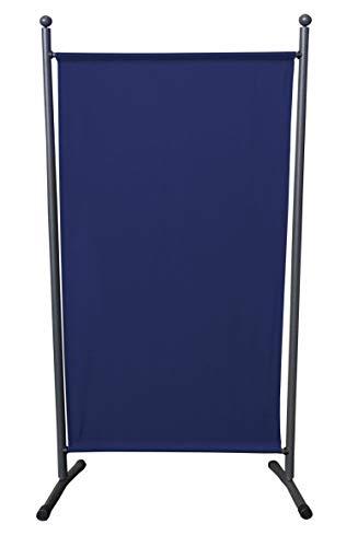 QUICK STAR Paravent 180 x 78 cm Stoff Raumteiler Klein Garten Stellwand Trennwand Balkon Sichtschutz Blau