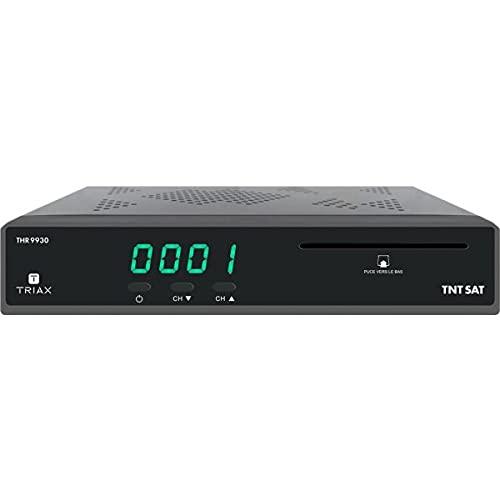 Triax THR 9930 - Terminal de recepción TDT gratis por satélite HD con tarjeta de acceso TNTSAT, puerto USB para dispositivos