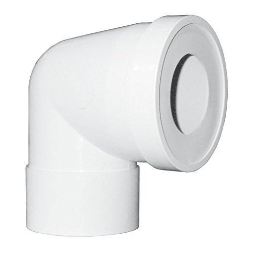 Pipe WC courte femelle PVC Blanc réf BPC