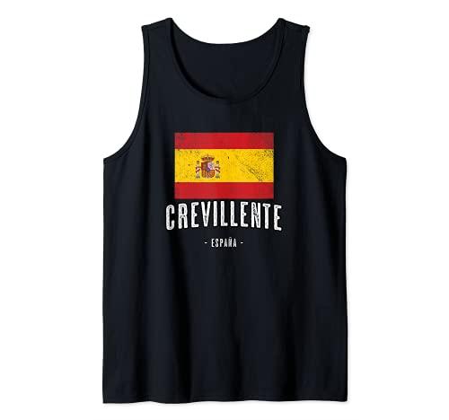 Crevillente España | Souvenir Linda Ciudad - Bandera - Camiseta sin Mangas