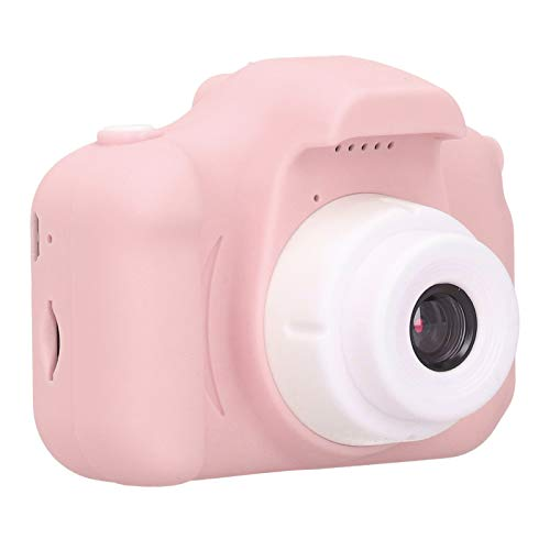 Mxzzand Portable Digital Camera Environmentally Friendly Silicone Children Camera Toy X5S 2.0in IPS The Best Thanksgiving/Christmas/Birthday Gift for Kids(Pink)