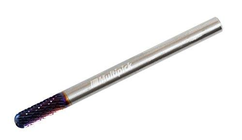 Hartmetall Tür-Schloss-Fräser 6 mm x 80 mm – Frässtift - Stirnverzahnung - fräst alle Stahlsorten von Multipick