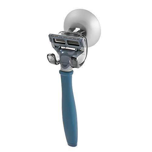 iDesign 22926EU Metro Ultra Power Lock Haken mit Saugnapf für Badezimmer Dusche für Rasierer, Schwamm, 4,8 x 5,08 x 4,78 cm, smoke/Silber, Plastik