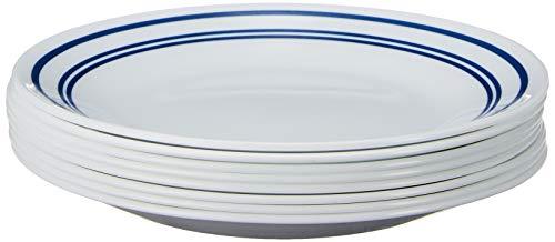 Corelle Bread Plates, 8-Piece, Classic Café Blue