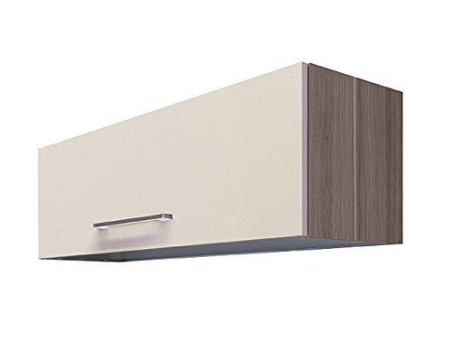 Smart Möbel Kurz-Hängeschrank mit Klapptür 100 cm Magnolienweiß - Magnolia