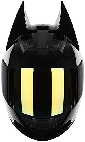 Casque Batman, Moto Électrique Hommes Et Femmes Casque Intégral De Motocross De Course Cool- / Approuvé Par La CEE B,XL