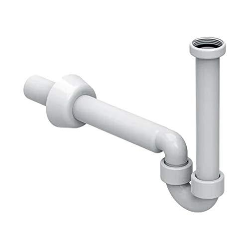 """GEBERIT 151.100.11.1 Waschtisch-Siphon PP, weiß, schwenkbar, 11/4"""" x 40 mm."""
