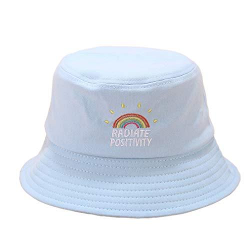 Arret Middleton - Gorro de pana unisex con bordado de arco iris, a prueba de sol, plegable, Hombre, color LB, tamaño talla única