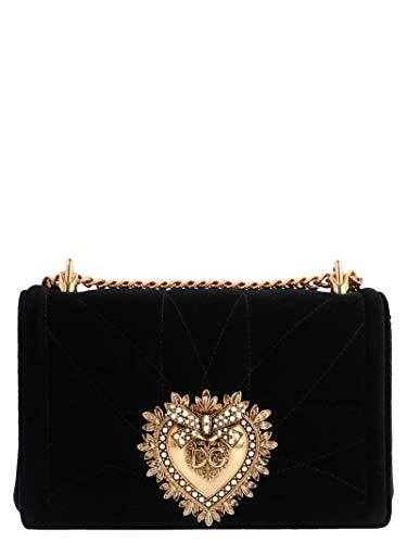 Dolce E Gabbana Borsa A Spalla Donna Bb6652aa09080999 Cotone Nero