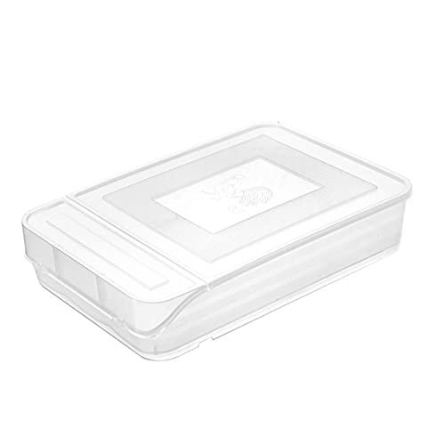 Soporte para huevos con tapa,Bandeja de huevos multifuncional de desplazamiento automático hacia abajo,para nevera contenedor de alimentos diseño de pendiente ajustable