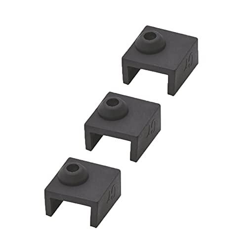 Decorel 3/5 PCS Acabado de calcetín de Silicona de Impresora for Mk7 mk8 mk10 Bloque de Aluminio J-Head Hotend Extruser Calentador de Calentador Cubierta de Bloqueo for CR-10 Ender3 (Color : 3 PCS)