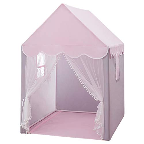 XZGang Game Tents for Indoor, Large Space Play Tent Children's Playhouse for Boys, Girls, Babies & Toddlers - Kids Toys Children's space (Color : Pink, Size : 93 * 125 * 140CM)
