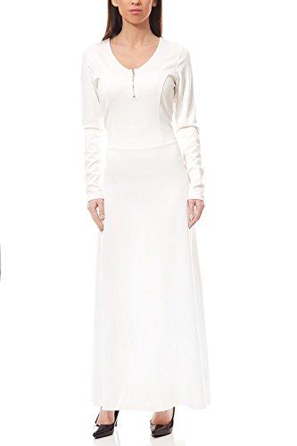 ashley brooke by heine Kleid elegantes Jerseykleid Abendkleid Weiß, Größenauswahl:36