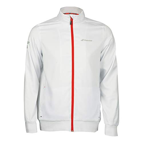 Babolat Core Club Jacket Boy Jacke, Kinder, Jungen, Weste, 3BS18121_XXS, Weiß, 6/8 AÑOS