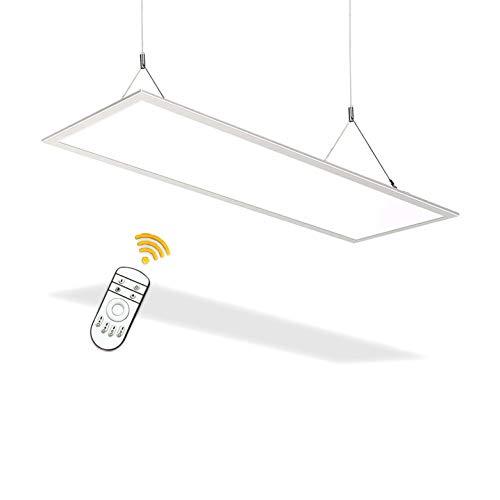Natur Pannello LED Dimmerabile 48W, 120 * 30 Ultra Sottile Plafoniera LED Panel, 5800LM Lampada a LED, Plafoniere per Soggiorno, Cucina, Ufficio, Negozio
