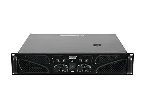 Omnitronic XPA-3004 Endstufe | 4-Kanal-PA-Verstärker mit Limiter, 4 x 750 W / 4 Ohm, 4 x 500 W / 8 Ohm | 3 Betriebsarten einstellbar (Stereo, Parallel oder Brücke)
