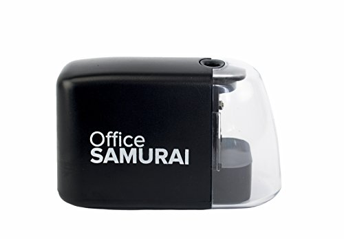 Office Samurai Electric Pencil Sharpener - Heavy Duty, Hand Held, Cordless, Battery Operated - for School, Home, Office, Artists, Students, Crafters, Teachers