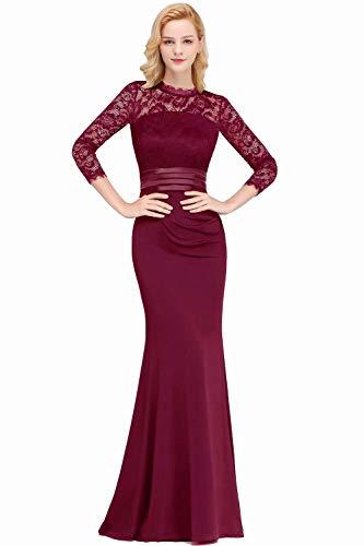 MisShow Maxikleider 50 Spitze Große Größen Kleid Partykleider Kleid Plus Size