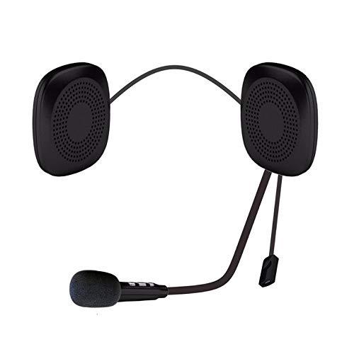 QiKun-Home Intercomunicador de Auriculares con Casco antiinterferencias inalámbrico Moto Impermeable para Motocicleta T2 Auriculares con Casco de Motocicleta Negro 22,2 x 4,5 x 1 cm
