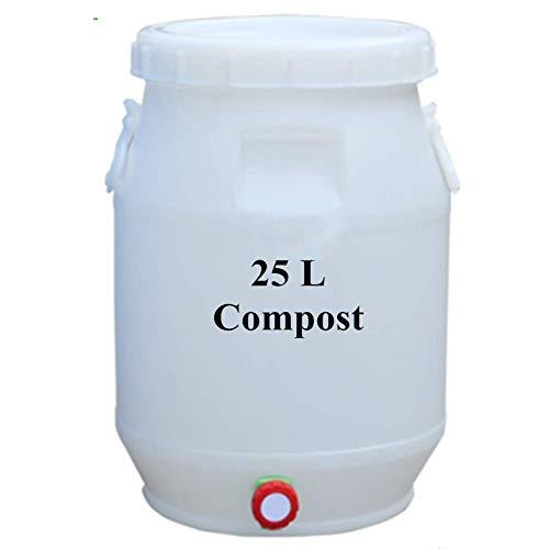 ZHANGYY Compostiera da Cucina con Rubinetto, barile per Compost da Interno con Coperchio, Contenitore per compostaggio ermetico per rifiuti, Contenitore per compostaggio Domestico con filt