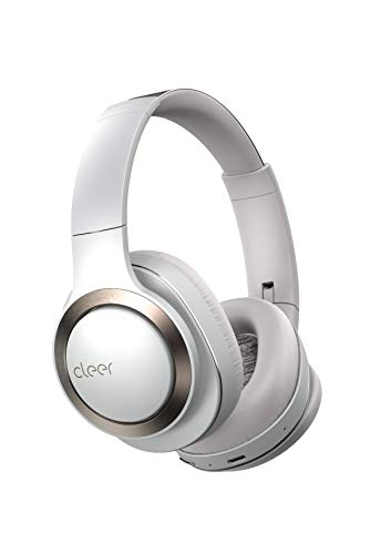 Cleer Audio, Enduro ANC Noise Cancelling Headphones, Long Lasting 60 Hour Battery, Ambient Sound Levels, Bluetooth Headphones, Smart Controls with Cleer+ App - Light Grey