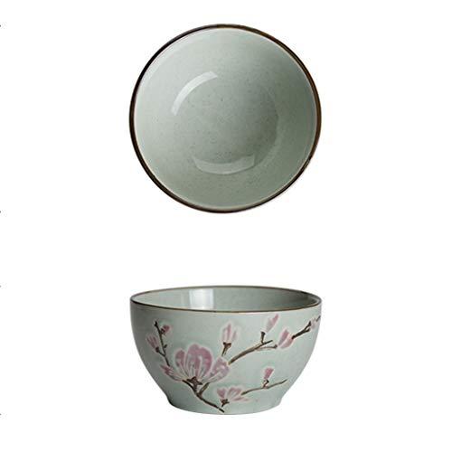 CJW Bol en céramique gaufré - Bol à riz rembourré Ménage Bleu Rose 11cm (4.5 pouces) (Color : Pink)