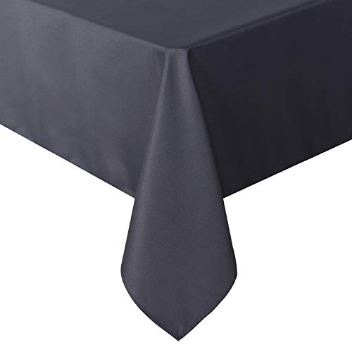 sancua Rectangle Tablecloth - 54 x 108 Inch - Stain and Wrinkle Resistant Washable Polyester Table Cloth, Decorative Fabric Table Cover for Dining Table, Buffet Parties and Camping, Grey