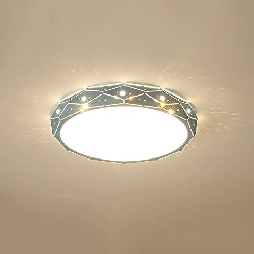 LPFWSK Macaron Color Lámpara de Techo Redonda Ultrafina Ajustable 3000K-6000K Luz de Techo LED de Montaje Empotrado Lado Creativo Diseño Hueco Dormitorio de los niños Lámpara de Ahorro de energía