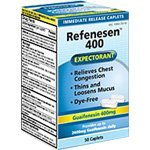 Refenesen Guaifenesin 400mg 50ct Expectorant by Reese Pharmaceutical Company