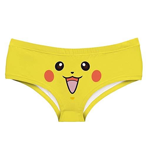 YUANYUAN520 Sexy Girls Cosplay Impresión Ropa Interior Calzoncillos Tangas Resume Las Bragas De Señora (Color : Pikachu, Size : 1pc)