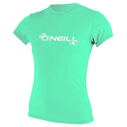 O'Neill Wetsuits WMS Basic Skins Chemise de Soleil à Manches Courtes pour Femme XS Turquoise Clair